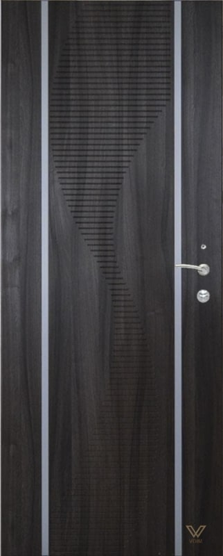 Двері броньовані з молдингом
