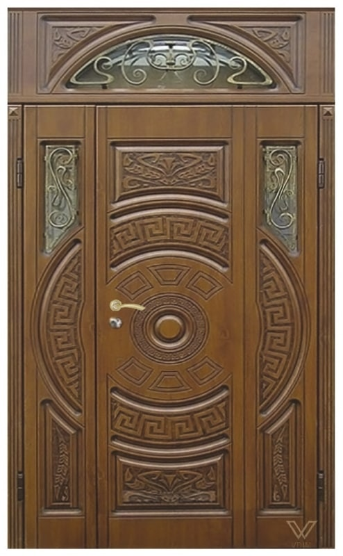 Двері вхідні, двополі з фрамугою