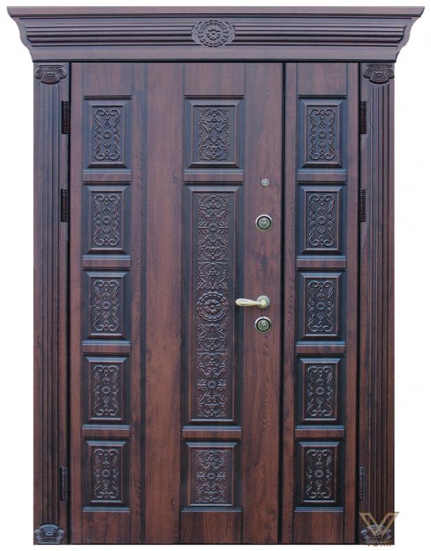 Двері двополі. З карнізом.