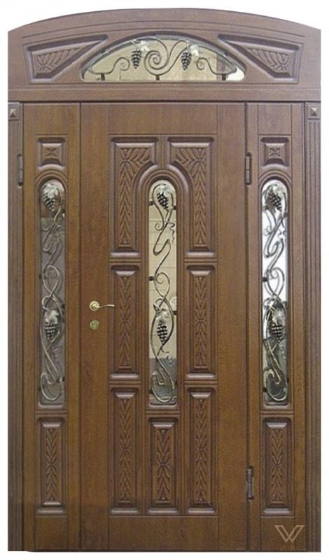 Двері вхідні, трьополі з фрамугою
