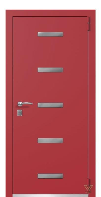 Двері металеві, червоні