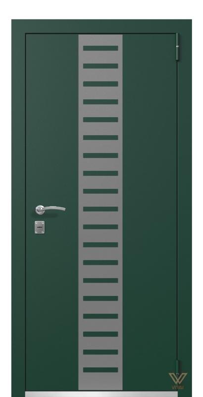 Двері металеві, зелені