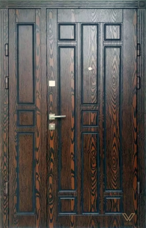 Входные двери с полимерными накладками, двуполые