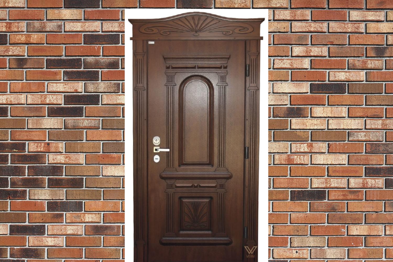 Двері однополі. З карнізом.