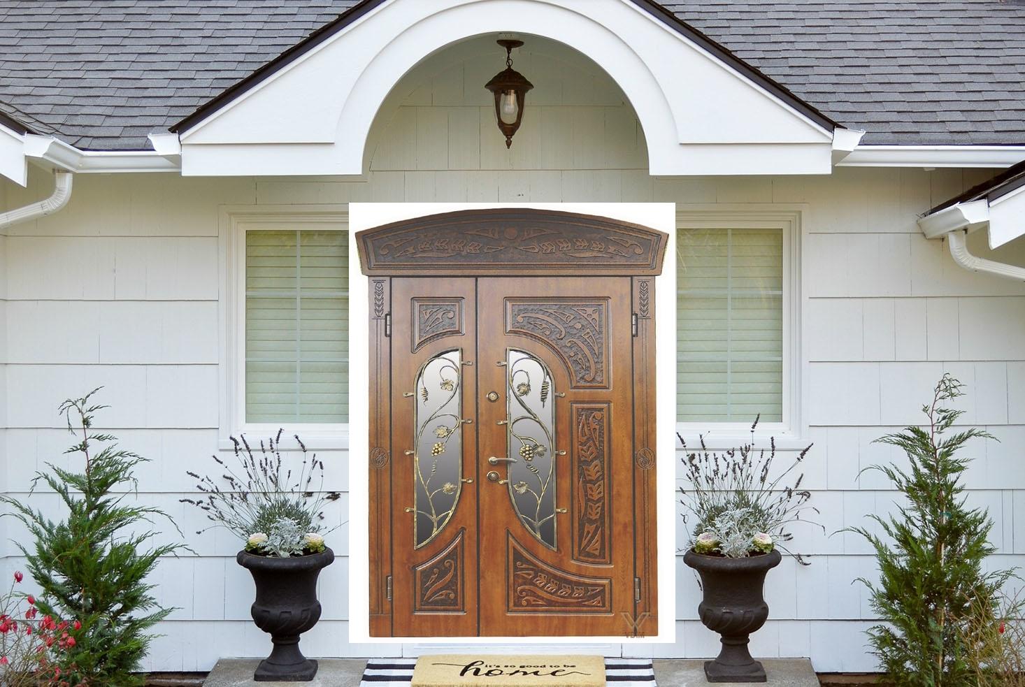 Двері двополі. З карнізом